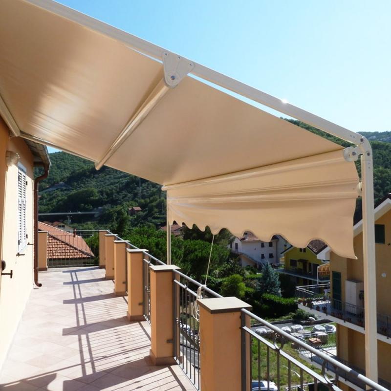 Tenda da sole con guide laterali max